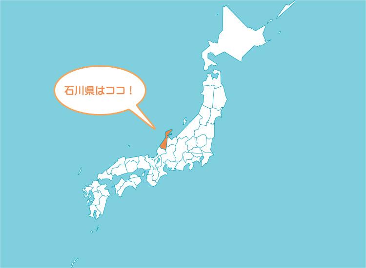 日本地図/石川県能登半島
